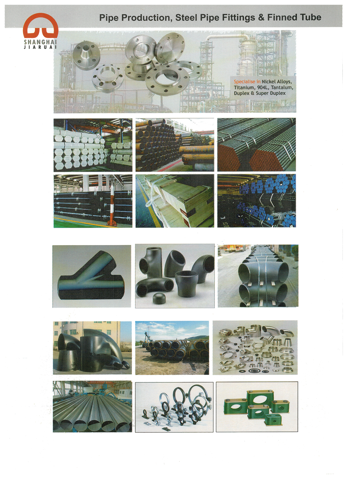 Pipe Production, Steel Pipe Fittings & Finned Tubs